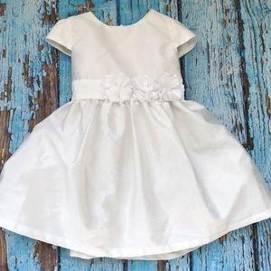 NWT Carter's White Flower Dress Me Up 2 Piece Set